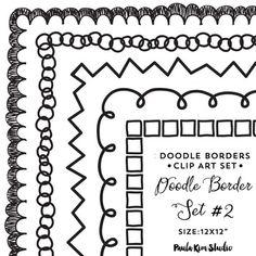 Doodle x frame clip. Bullet clipart border