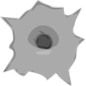 Bullet clipart clear background. Hole clip art at