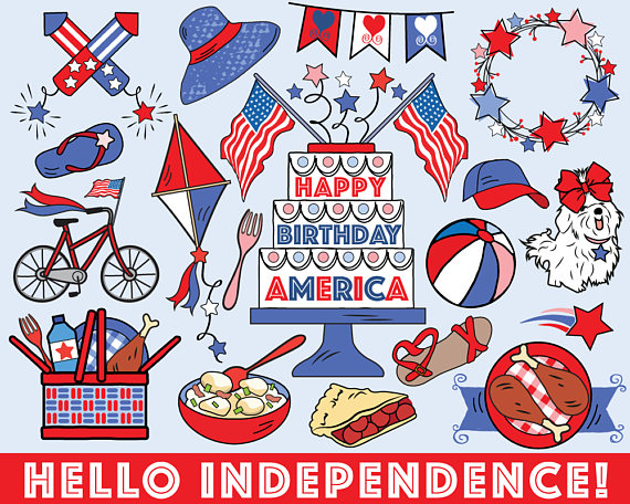 Bullet clipart clip art. Fourth of july vector