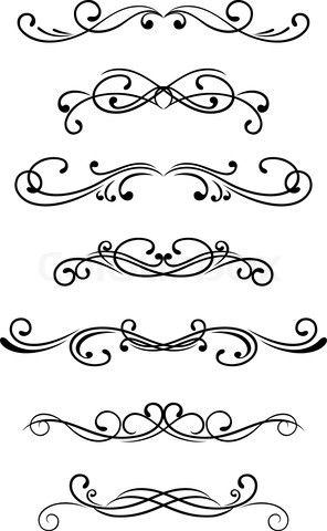 Simple scroll designs could. Bullet clipart fancy