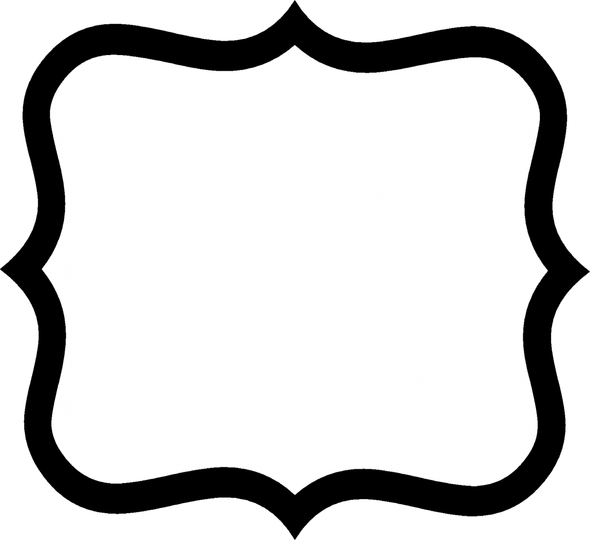 Square clipart square shaped. Fancy label shape clip