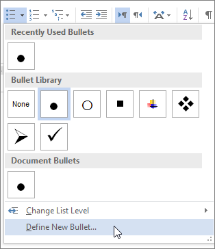 Bullet clipart file. Create custom bullets with