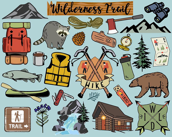 Bullet clipart file. Hiking camping clip art
