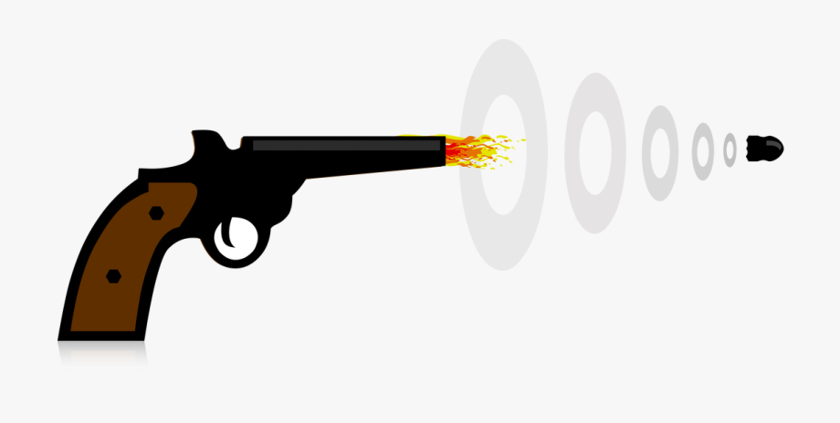 Clipart gun gun safety. Shooting cartoon bullet