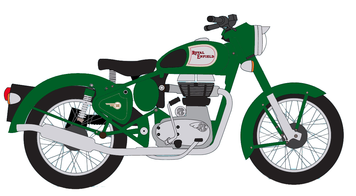 Bullet clipart motorbike. Bike pencil and in