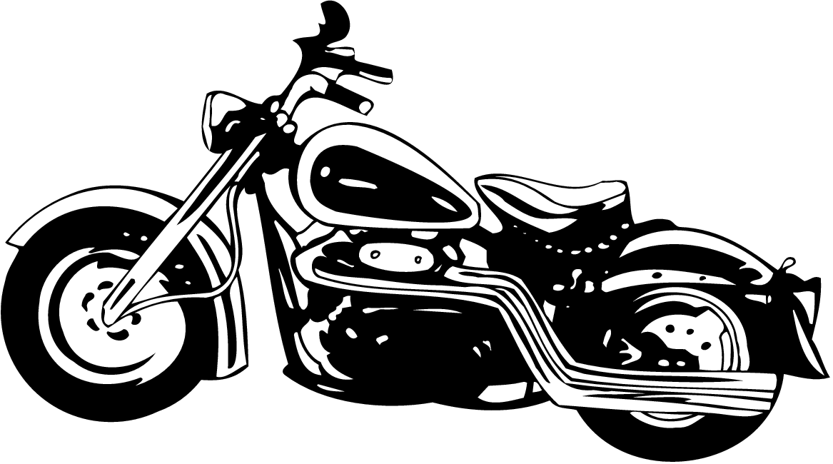 Motorcycle clipart cruiser motorcycle. And black white kid