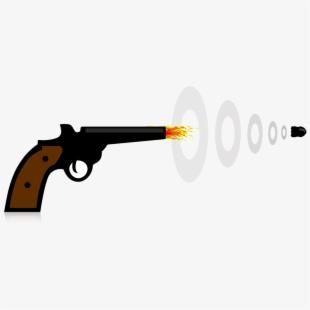 Bullet clipart rifle bullet. Shooting gun safety cartoon