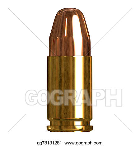 Bullet clipart single. Stock illustration shiny drawing