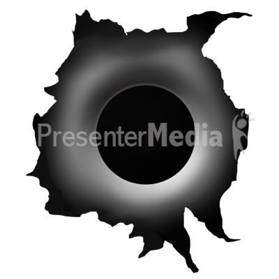 Hole . Bullet clipart single