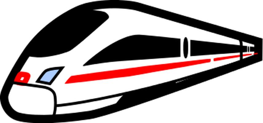 Bullet clipart speed. Modern train
