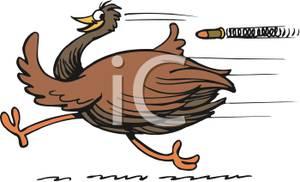 Bullet clipart speeding bullet. An emu outrunning a