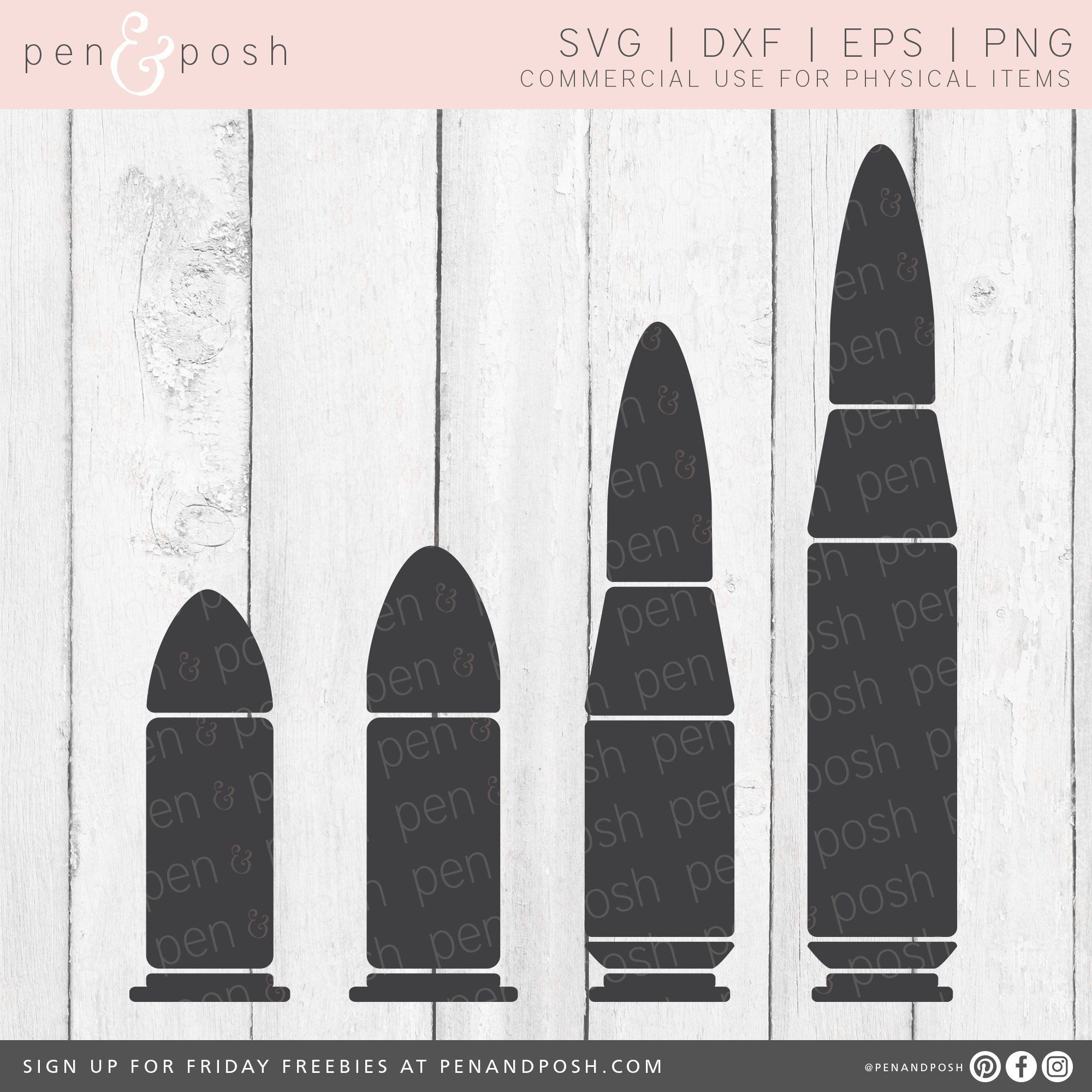 Pin on commercial cut. Bullet clipart svg
