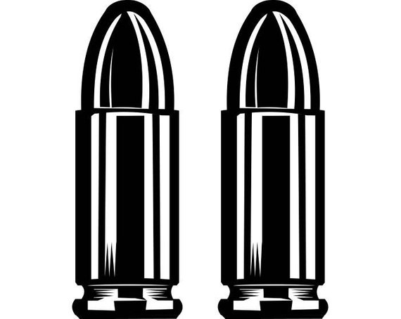 Bullet clipart svg. Bullets ammunition weapon pistol