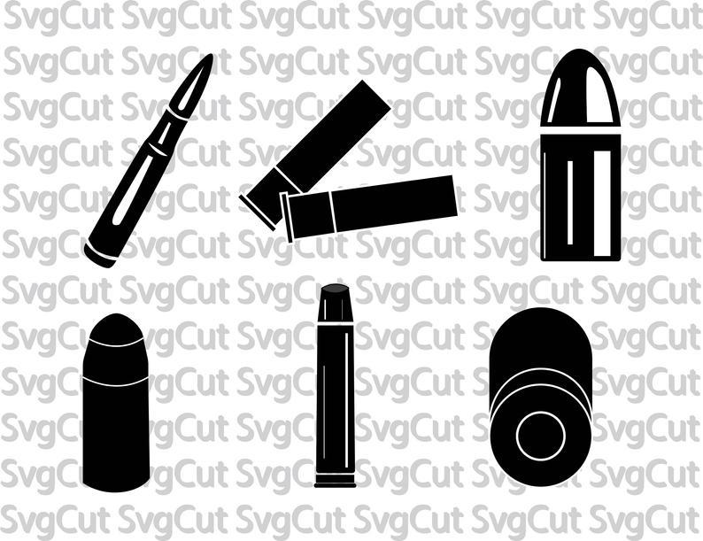 Bullets svg ammo ammunition. Bullet clipart vector