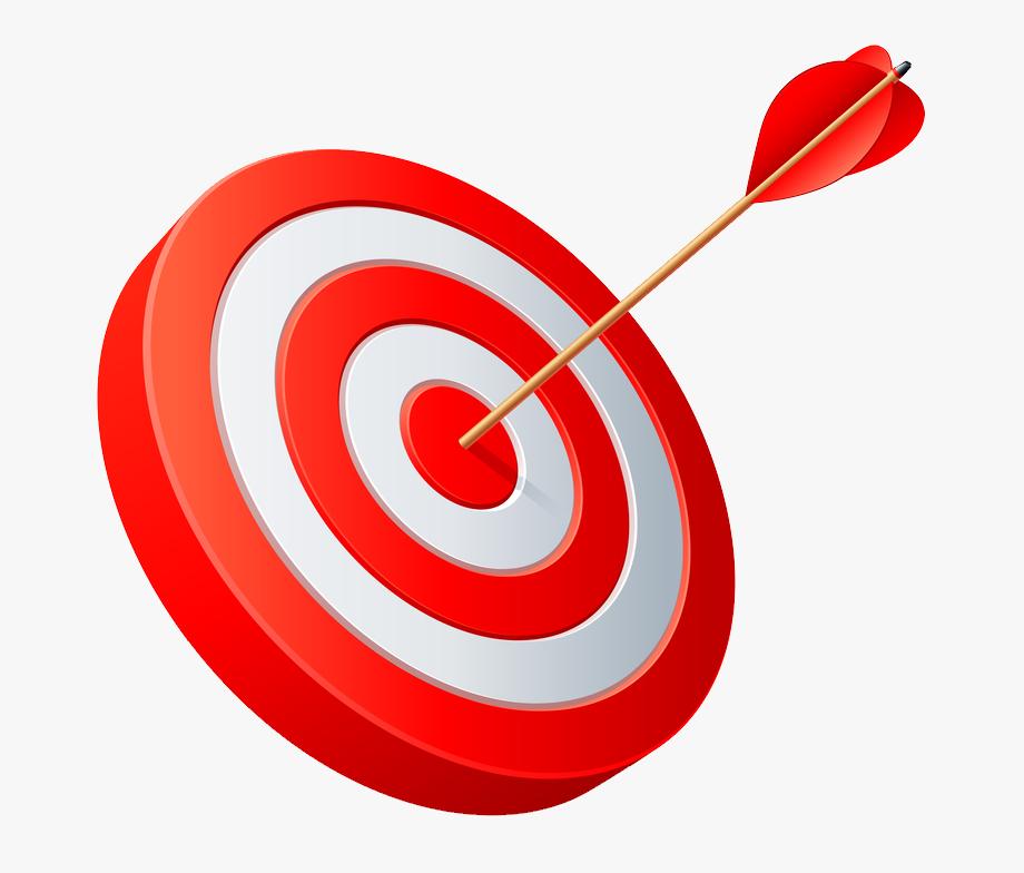 Red arrow target png. Bullseye clipart aim