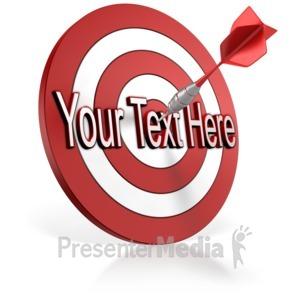 Bullseye clipart animated. Target text custom video