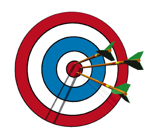 Young person s feedback. Bullseye clipart archery