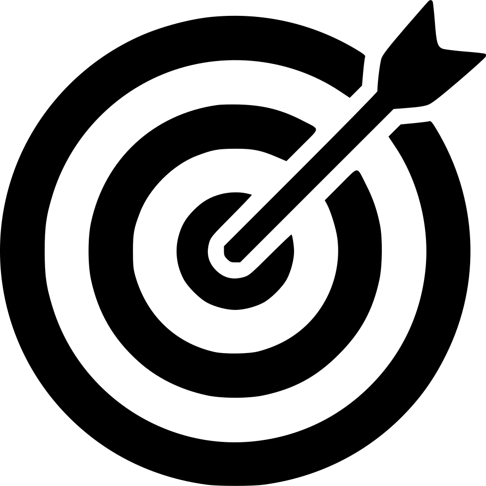 Bullseye clipart black and white. Svg png icon free