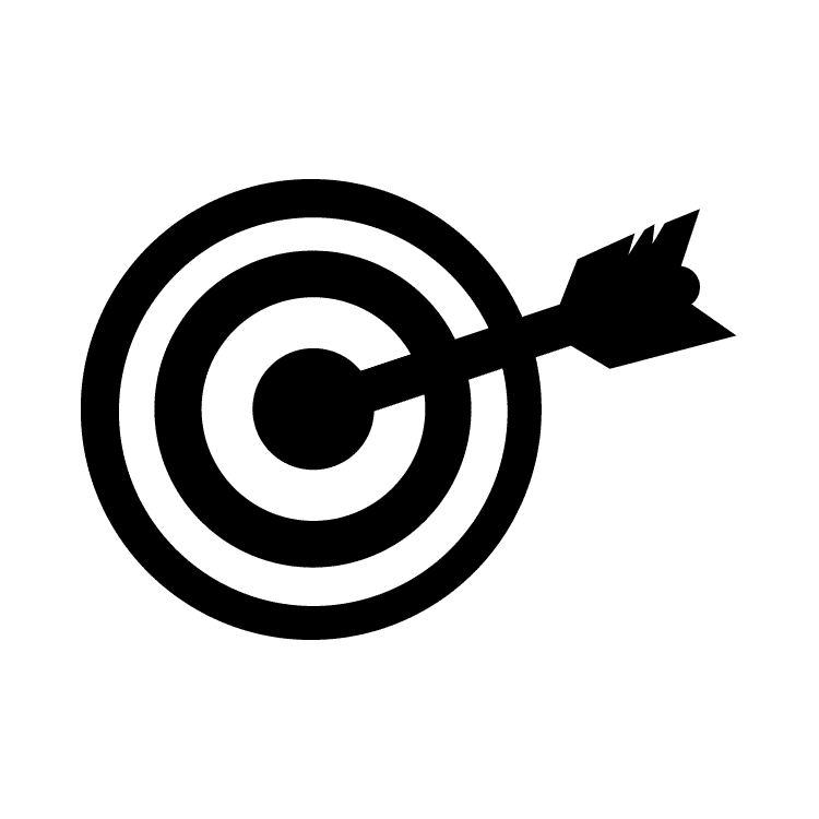 Bullseye clipart black and white. Free icons easy to