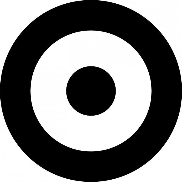 Bullseye clipart black and white. Meme graphic bearskin target