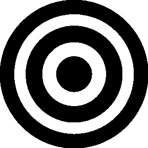 Bullseye clipart black and white. Free archery cliparts download