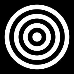 Bullseye clipart black and white. Printable target clip art