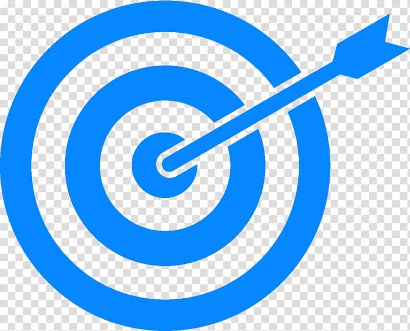 Target corporation transparent background. Bullseye clipart blue