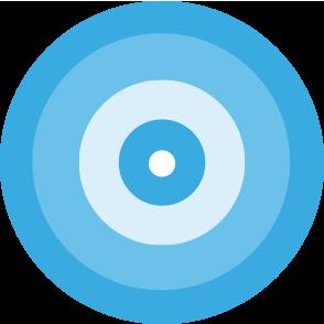 Tutorpedia foundation. Bullseye clipart blue