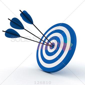 Stock photo of d. Bullseye clipart blue