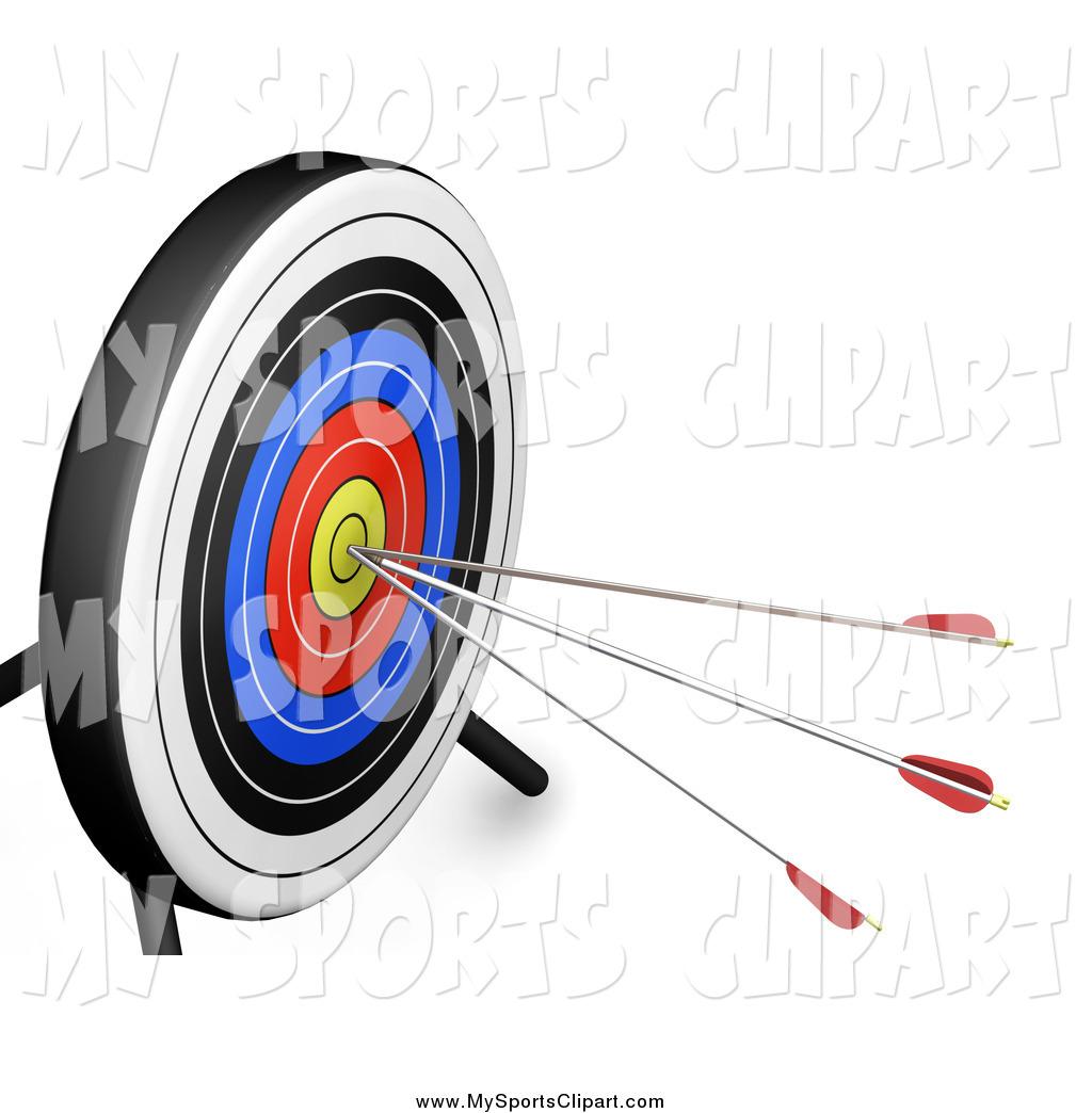Sports clip art of. Bullseye clipart board target
