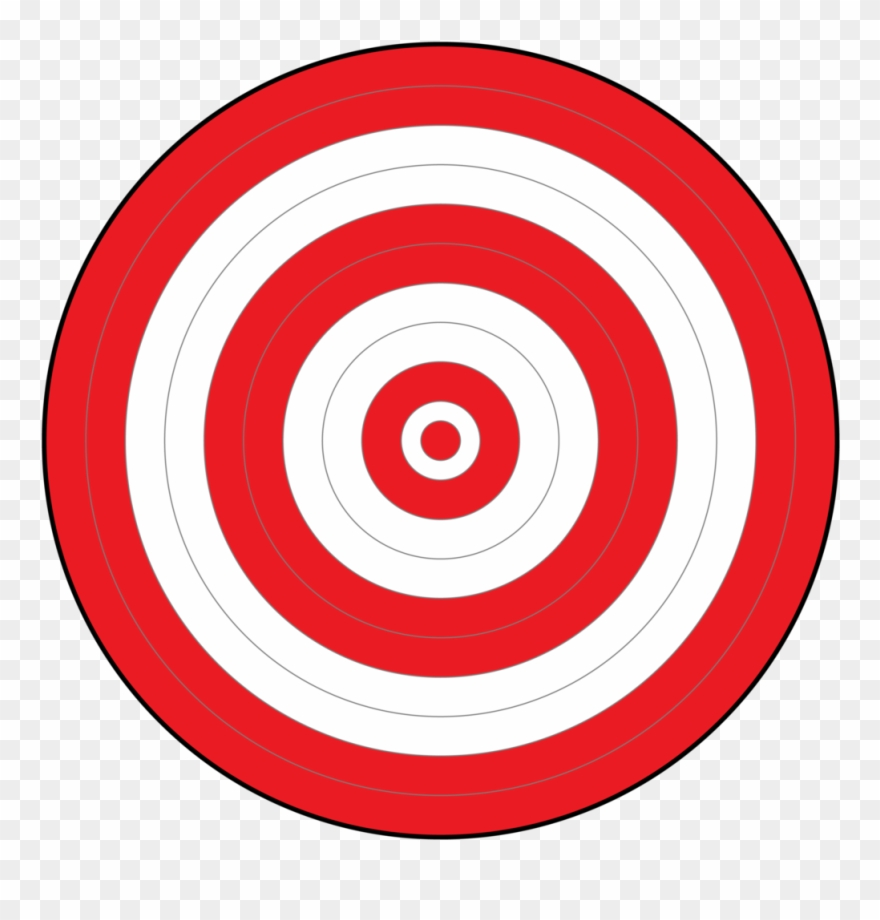 Bullseye clipart board target. All red nollans bricka