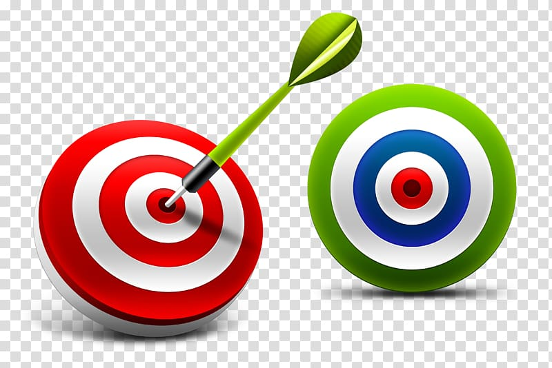 Two red and green. Bullseye clipart board target