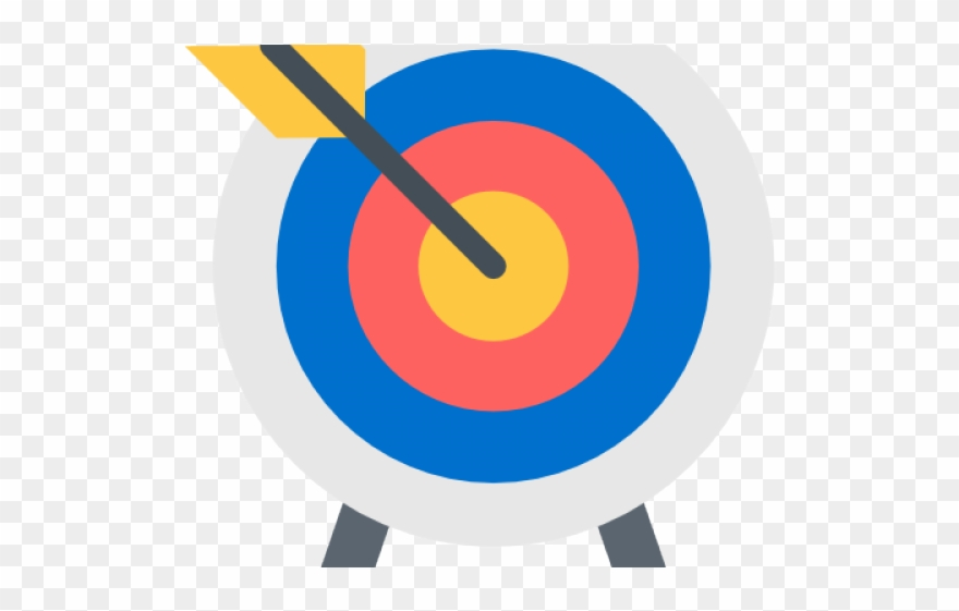 Archery png download . Bullseye clipart brave