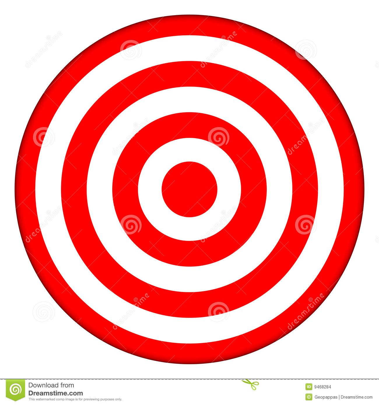 Bullseye clipart cartoon. Target
