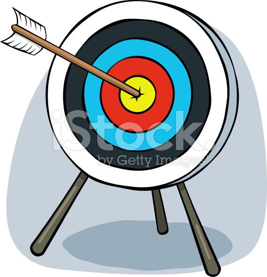 Bullseye clipart cartoon. Target clip art panda