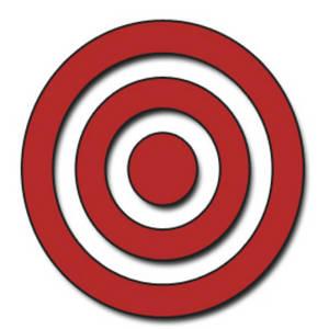 Bullseye clipart cartoon.
