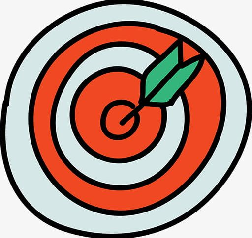 Arrow in the png. Bullseye clipart cartoon