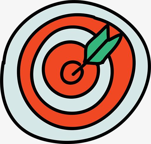 Bullseye clipart cartoon. Arrow in the bull
