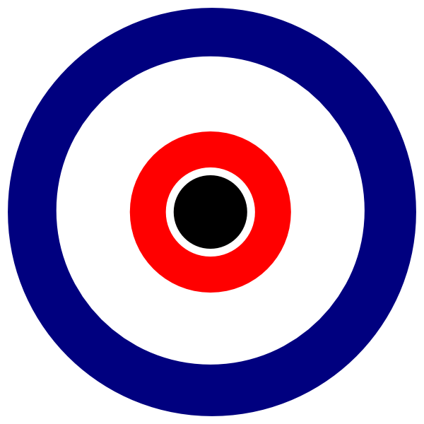 Black center at clker. Bullseye clipart clip art