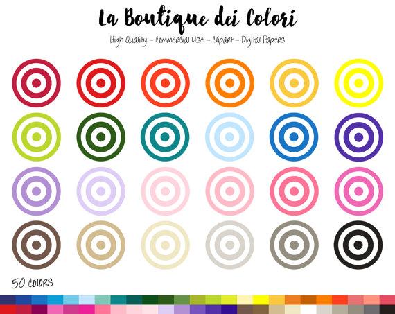 Bullseye clipart colorful.  target cute digital