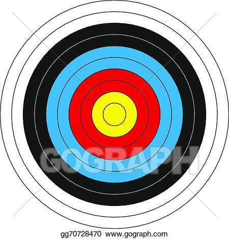 Bullseye clipart colorful. Vector illustration target stock