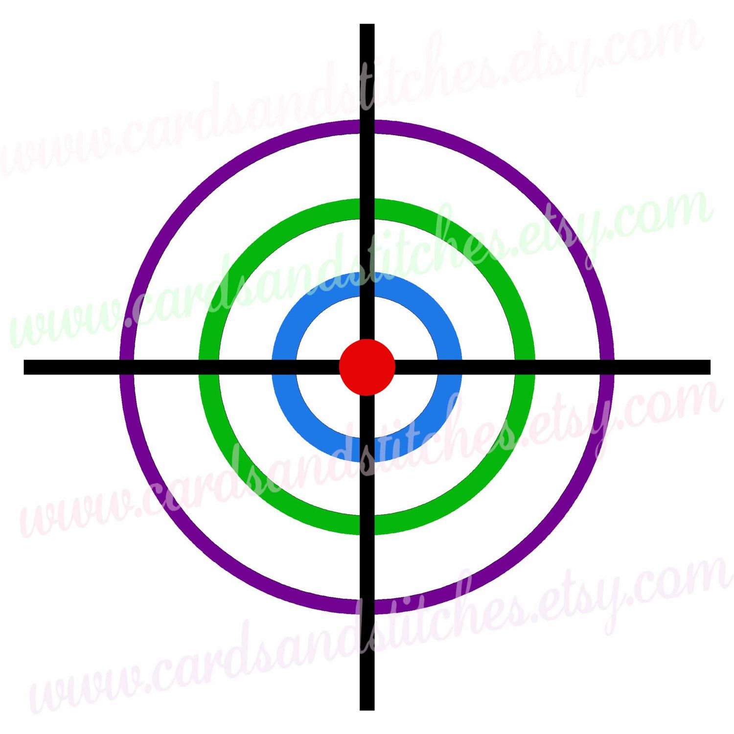 Bullseye clipart colorful. Svg colored shooting target