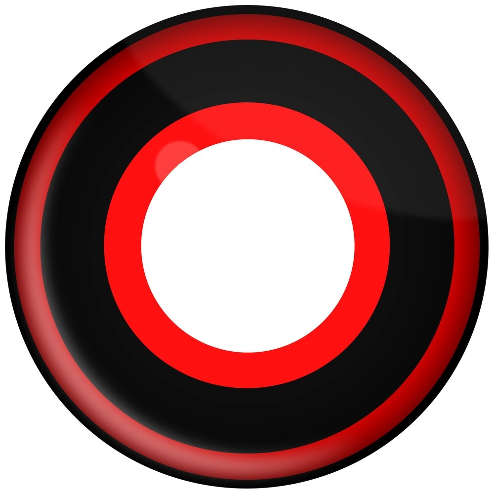 Scary contact lenses . Bullseye clipart colorful