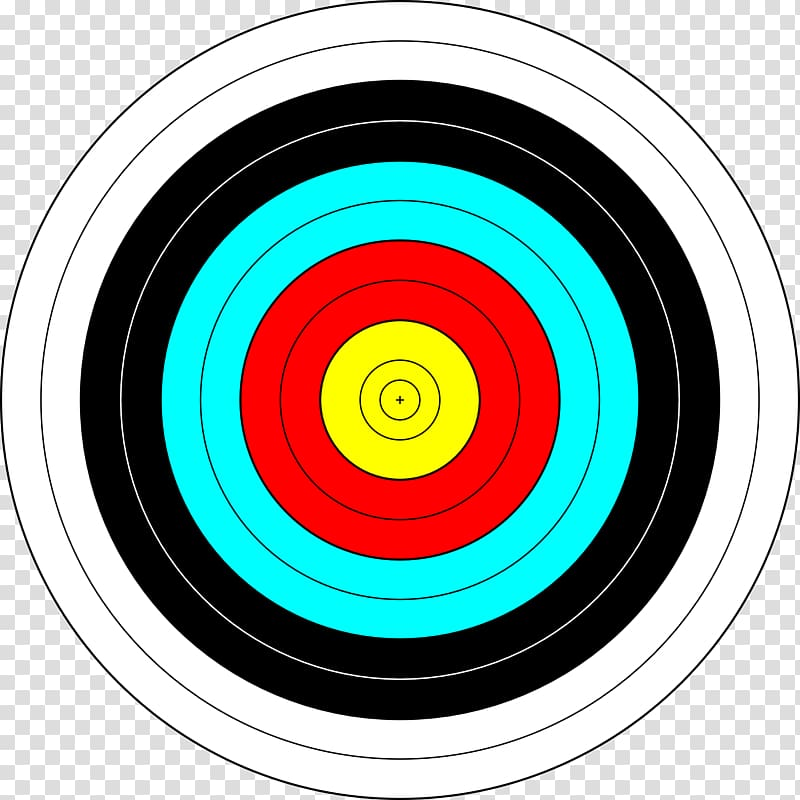 Bullseye clipart colorful. Target archery shooting color