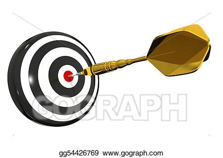 Board isolated stock illustration. Bullseye clipart dart