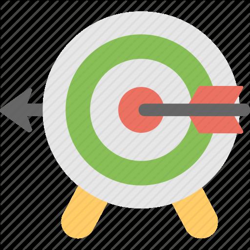 Aim dartboard target icon. Bullseye clipart focus