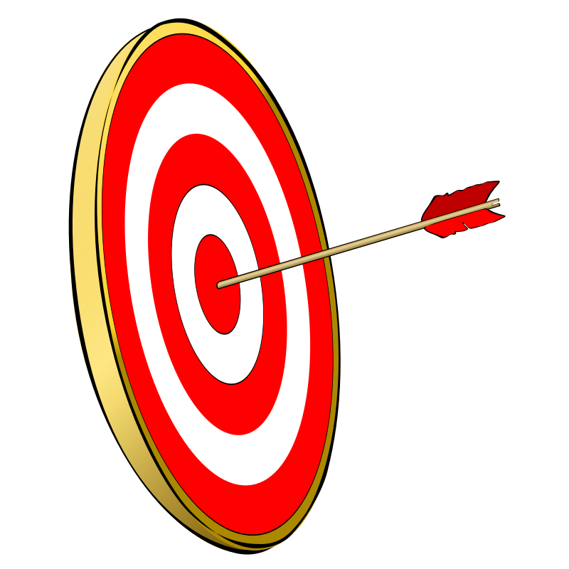 Free red download clip. Bullseye clipart focus