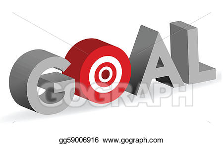 Bullseye clipart goal. Vector art word with