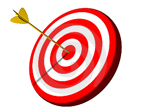 Set clear goals for. Bullseye clipart goal