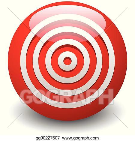 Vector art red target. Bullseye clipart icon